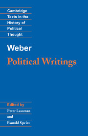 Weber: Political Writings