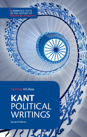 Kant: Political Writings