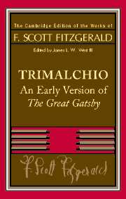 F. Scott Fitzgerald: Trimalchio
