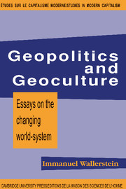 Geopolitics and Geoculture