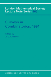 Surveys in Combinatorics, 1991