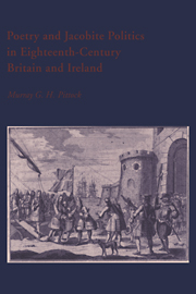 Poetry and Jacobite Politics in Eighteenth-Century Britain and Ireland