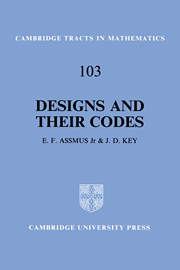 Designs and their Codes