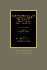 Nonparametric and Semiparametric Methods in Econometrics and Statistics