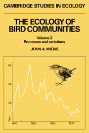 The Ecology of Bird Communities