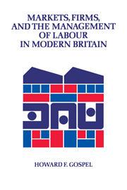Markets, Firms and the Management of Labour in Modern Britain