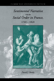 Sentimental Narrative and the Social Order in France, 1760–1820