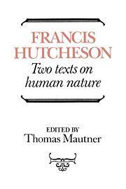 Hutcheson: Two Texts on Human Nature