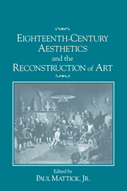 Eighteenth-Century Aesthetics and the Reconstruction of Art