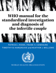 WHO Manual for the Standardized Investigation and Diagnosis of the Infertile Couple