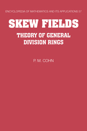 Skew Fields