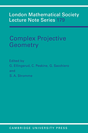 Complex Projective Geometry