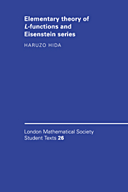 Elementary Theory of L-functions and Eisenstein Series