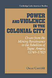 Power and Violence in the Colonial City