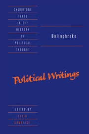 Bolingbroke: Political Writings