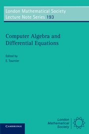Computer Algebra and Differential Equations