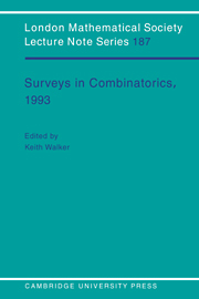 Surveys in Combinatorics, 1993