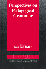 Perspectives on Pedagogical Grammar