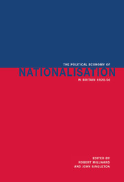 The Political Economy of Nationalisation in Britain, 1920–1950