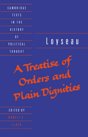A Treatise of Orders and Plain Dignities