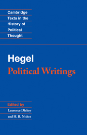 Hegel: Political Writings