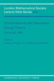 Combinatorial and Geometric Group Theory, Edinburgh 1993