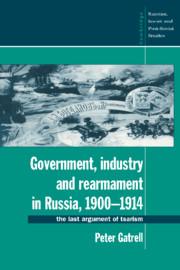 Government, Industry and Rearmament in Russia, 1900–1914