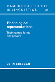 Phonological Representations