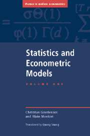 Statistics and Econometric Models