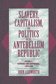 Slavery, Capitalism, and Politics in the Antebellum Republic