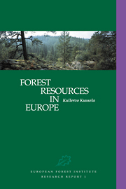 Forest Resources in Europe 1950–1990