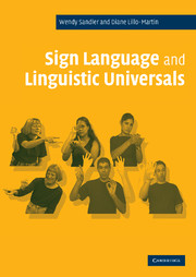 Sign Language and Linguistic Universals