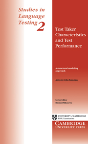 Test Taker Characteristics and Test Performance