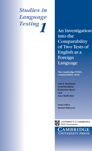 An Investigation into the Comparability of Two Tests of English as a Foreign Language