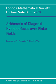 Arithmetic of Diagonal Hypersurfaces over Finite Fields