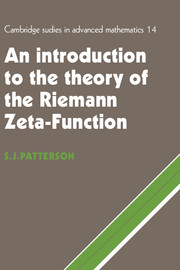 An Introduction to the Theory of the Riemann Zeta-Function