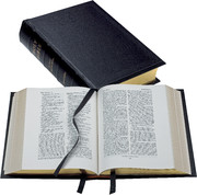 REB Lectern Bible with Apocrypha, Black Imitation Leather over Boards, RE932:TAB