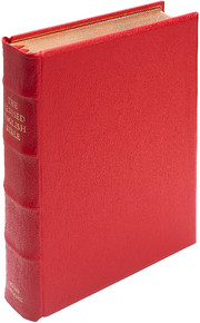 REB Lectern Bible, Red Imitation Leather over Boards, RE932:TB