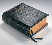 KJV Lectern Bible with Apocrypha, Black Goatskin Leather over Boards, KJ986:XAB