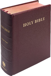 KJV Lectern Bible, Burgundy Goatskin Leather over Boards, KJ986:XB