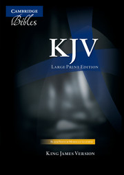 KJV Large Print Text Bible, Black French Morocco Leather, KJ653:T