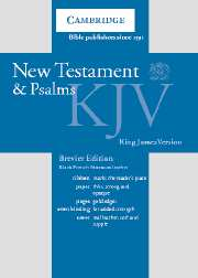 KJV New Testament and Psalms Black Letter (Brevier)