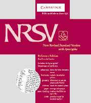 NRSV Reference Edition with Apocrypha