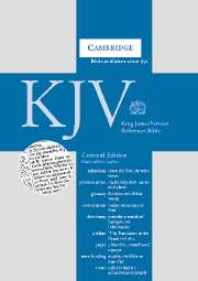 KJV Concord Reference Edition with Concordance and Dictionary Black Calfskin Leather