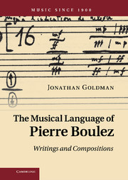The Musical Language of Pierre Boulez