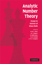 Analytic number theory essays honour klaus roth | Number theory