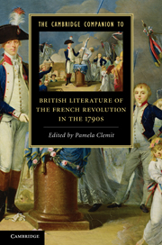 The Cambridge Companion to British Literature of the French Revolution in the 1790s