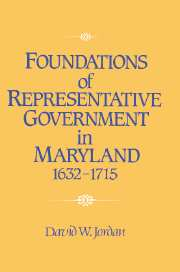 Foundations of Representative Government in Maryland, 1632–1715
