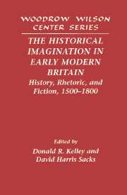 The Historical Imagination in Early Modern Britain