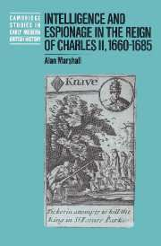 Intelligence and Espionage in the Reign of Charles II, 1660–1685